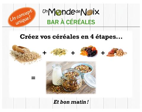 FB-Bar à céréales 4 étapes-Concept unique