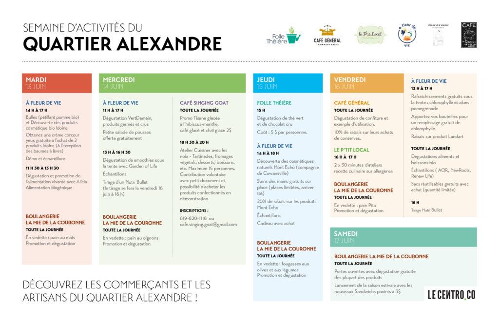 Programmation Quartier Alexandre