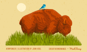 Creative Mornings Sherbrooke - Pioneers illustration