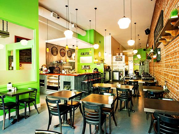 Café créatif au croquis intérieur